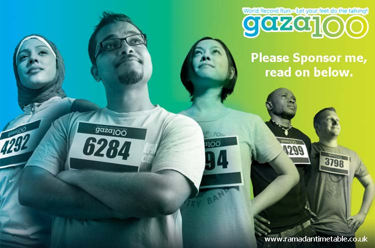 Gaza100 - Ramadan Timetable UK and Ireland